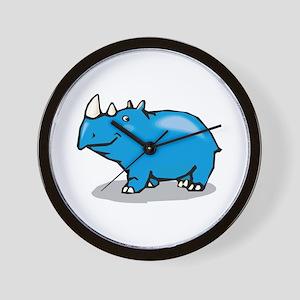 Rhino Smiling Wall Clock