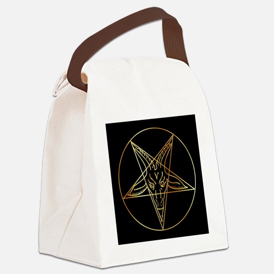 Cool Satanism Canvas Lunch Bag