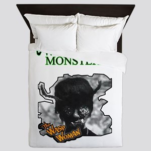 Unfamous Monsters -The Wasp Woman Queen Duvet