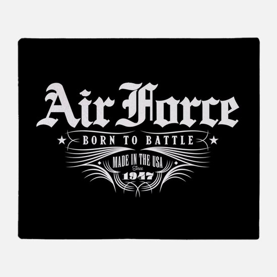 US Air Force Born to Battle Throw Blanket
