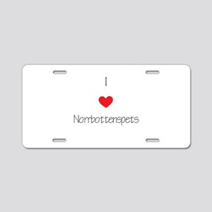 I love Norrbottenspets Aluminum License Plate