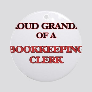 Proud Grandpa of a Bookkeeping Cler Round Ornament