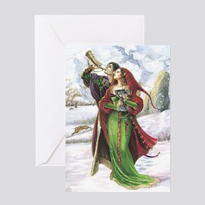 Yule Cards Greeting Card