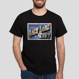 Salt Lake City Postcard Dark T-Shirt