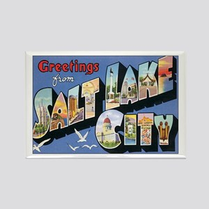 Salt Lake City Postcard Rectangle Magnet