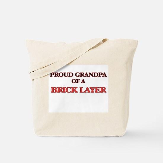Proud Grandpa of a Brick Layer Tote Bag
