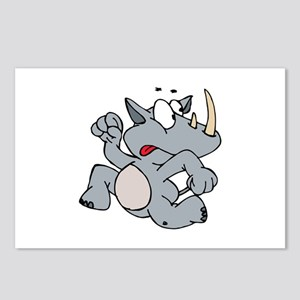 Rhino Running faster Postcards (Package of 8)