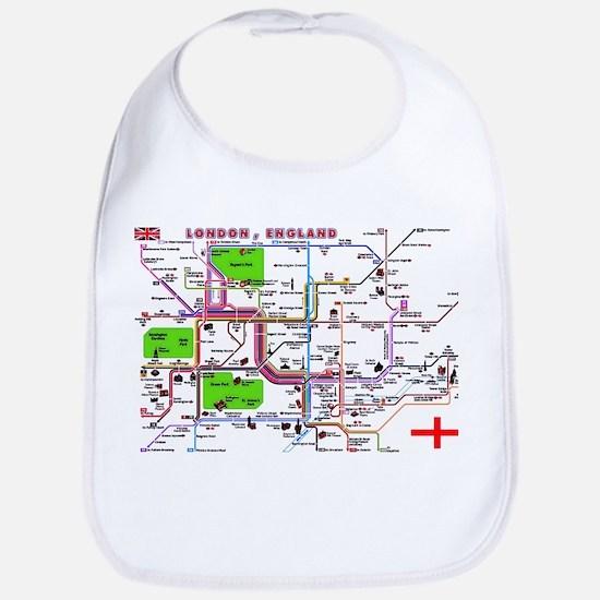 Tourist Map of London, Englan Bib