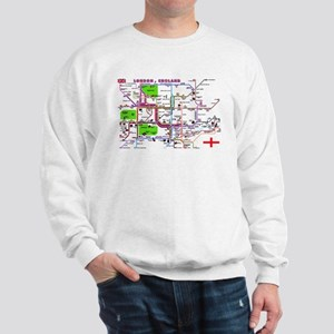 Tourist Map of London, Englan Sweatshirt