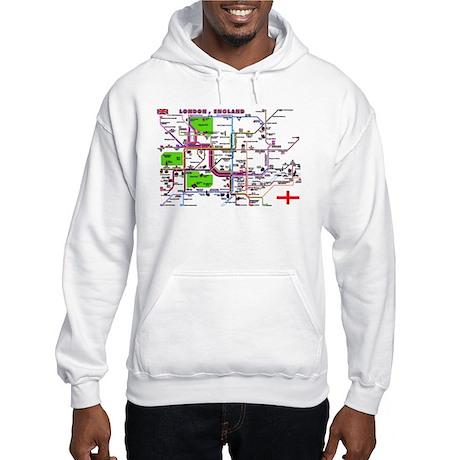 Tourist Map of London, Englan Hooded Sweatshirt