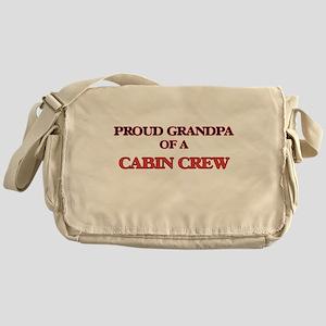 Proud Grandpa of a Cabin Crew Messenger Bag