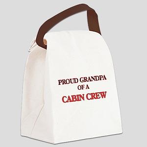Proud Grandpa of a Cabin Crew Canvas Lunch Bag