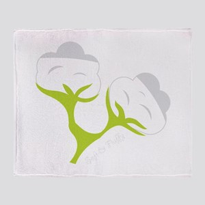 Cotton Bloom Throw Blanket