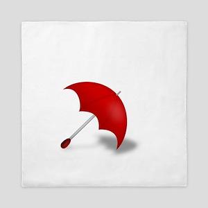 Umbrella red Queen Duvet