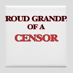 Proud Grandpa of a Censor Tile Coaster