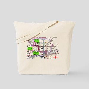 Tourist Map of London, Englan Tote Bag