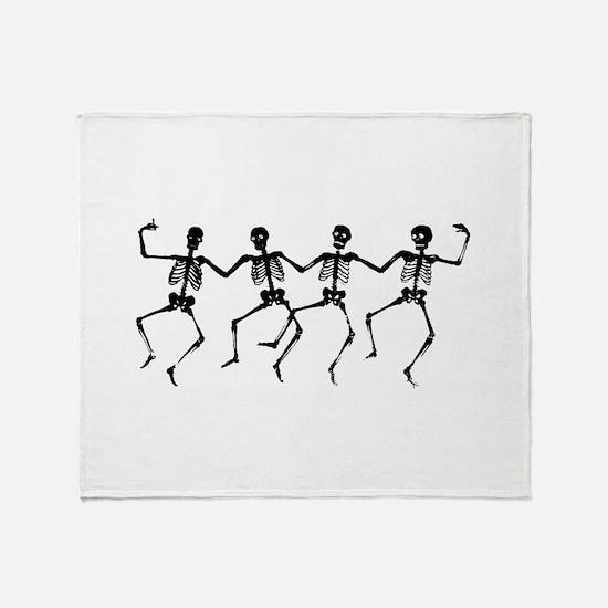 Dancing Skeletons Throw Blanket