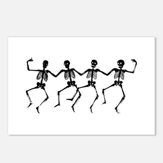 Dancing Skeletons Postcards (Package of 8)