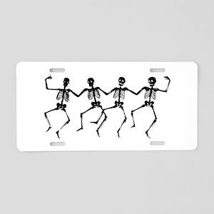Dancing Skeletons Aluminum License Plate