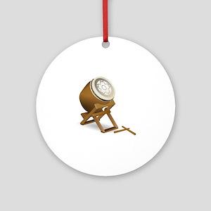 Taiko drum Round Ornament
