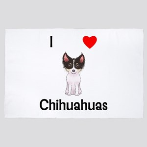 I Love Chihuahuas (picture) 4' X 6' Rug
