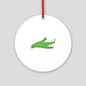 Green bean Round Ornament
