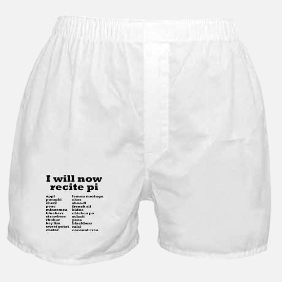I will now recite pi. Boxer Shorts