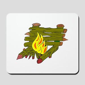 Fire Catching Wood Mousepad
