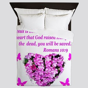 ROMANS 10:9 Queen Duvet