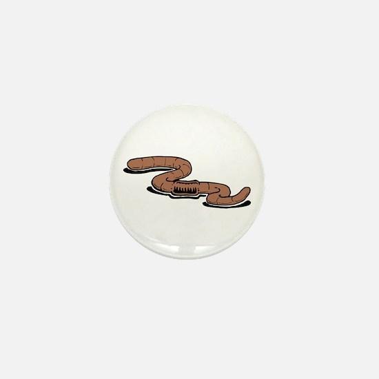 Earth Worm Mini Button