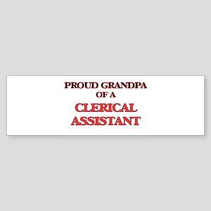 Proud Grandpa of a Clerical Assista Bumper Sticker