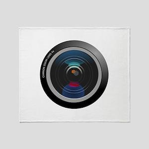 Camera Lens Throw Blanket