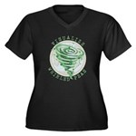 Whirled Peas Women's Plus Size V-Neck Dark T-Shirt