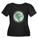 Whirled Peas Women's Plus Size Scoop Neck Dark T-S