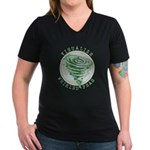 Whirled Peas Women's V-Neck Dark T-Shirt