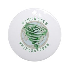 Whirled Peas Ornament (Round)
