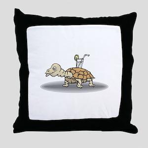 Tortoise with Lemonade Throw Pillow