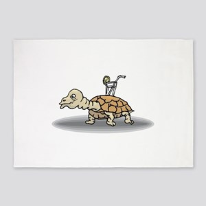 Tortoise with Lemonade 5'x7'Area Rug