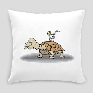 Tortoise with Lemonade Everyday Pillow