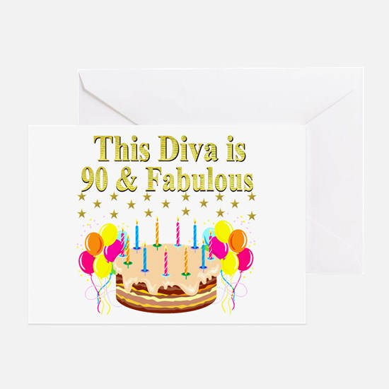 90TH DIVA Greeting Card