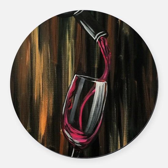 Fine Wine Round Car Magnet