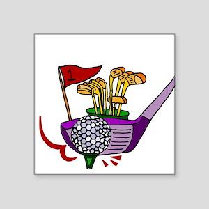 Golfing Abstract Art Sticker