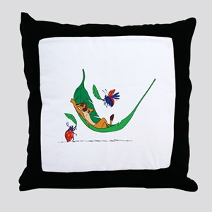 The Lion King on leaf Throw Pillow