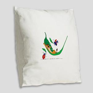 The Lion King on leaf Burlap Throw Pillow
