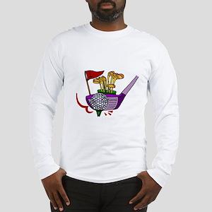 Golfing Abstract Art Long Sleeve T-Shirt