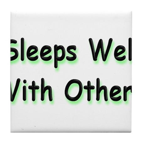 Sleeps Well Tile Coaster