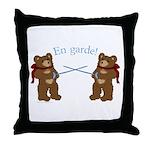 Teddy Bear Fencers Throw Pillow