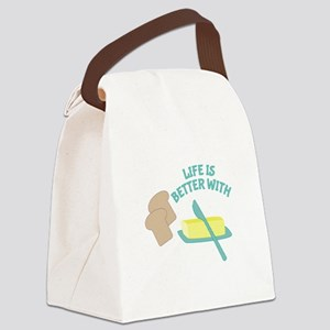 Better With Butter Canvas Lunch Bag