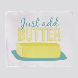 Just Add Butter Throw Blanket