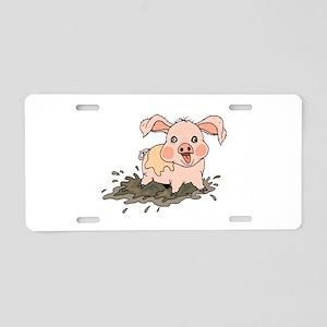 Piglet Aluminum License Plate